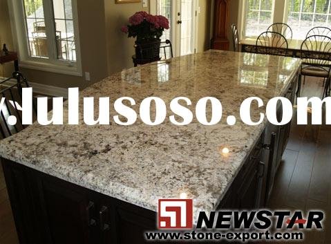 River White Granite Kitchen Countertops,granite peninsula top