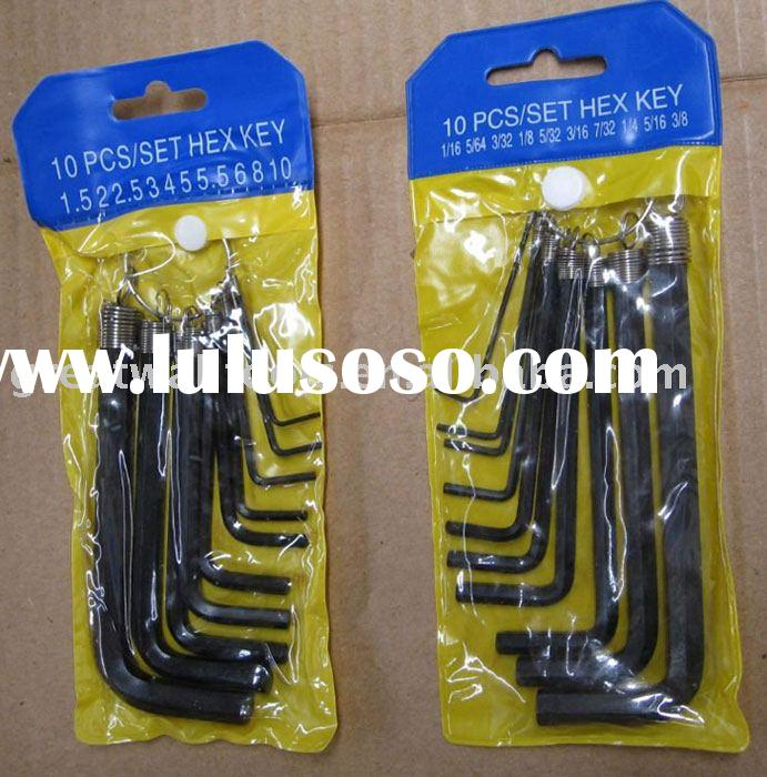 10pcs hex key set