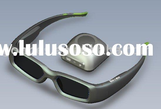 3D active shutter Glasses for 3D HDTV and blue rey player