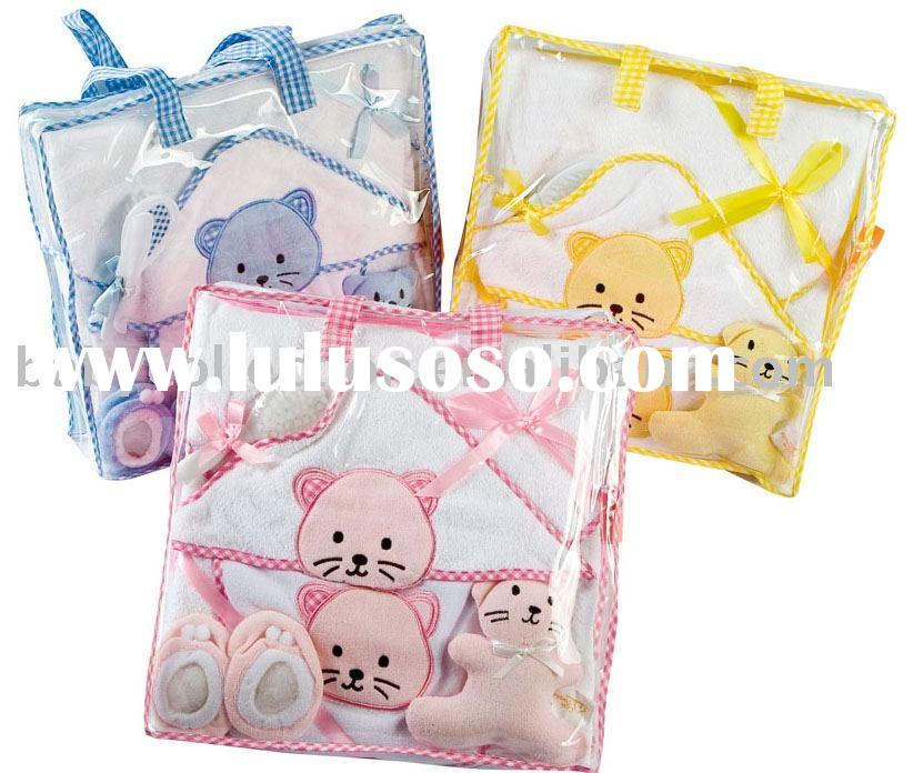 6pcs baby towel bath gift set