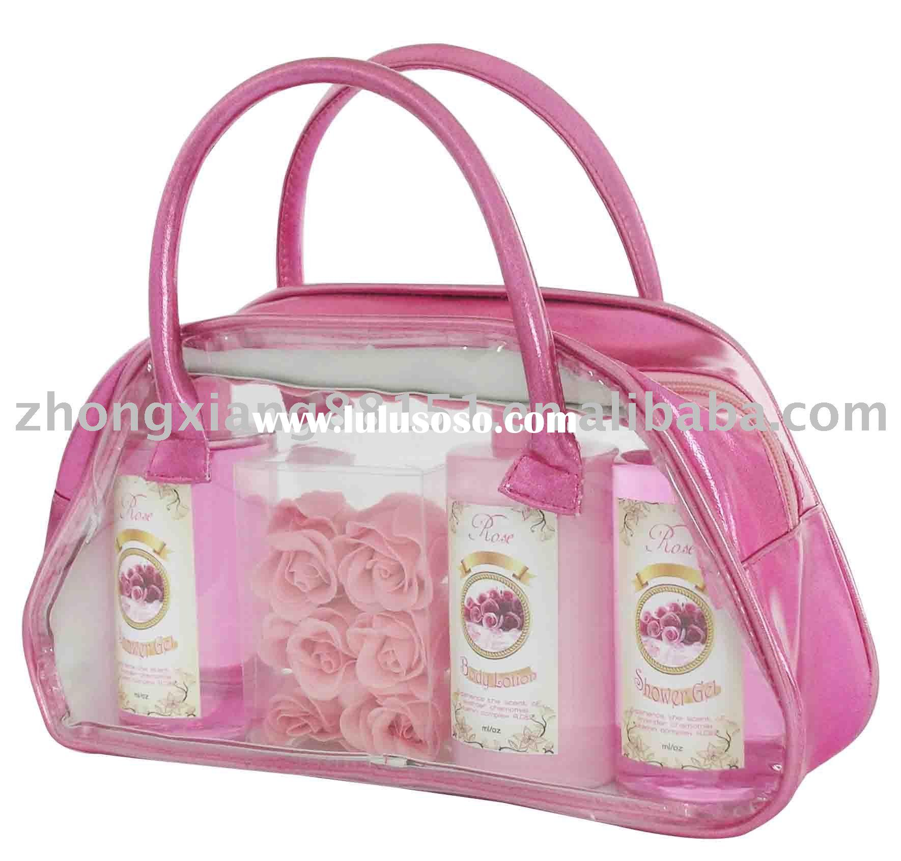Bath gift set( Shower gel, bubble bath,body lotion,bath soap)