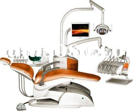 Chair mounted dental unit dental chair