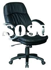 J-029B black leather office swivel adjustable chair