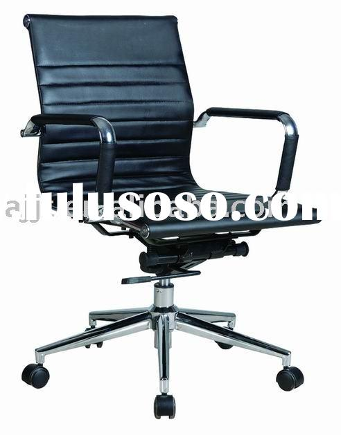 K-004B  black leather office adjustable chair