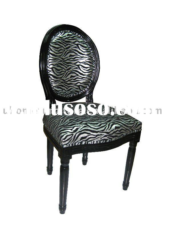 Zebra carved accent chair