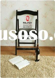 black indoor folding chair