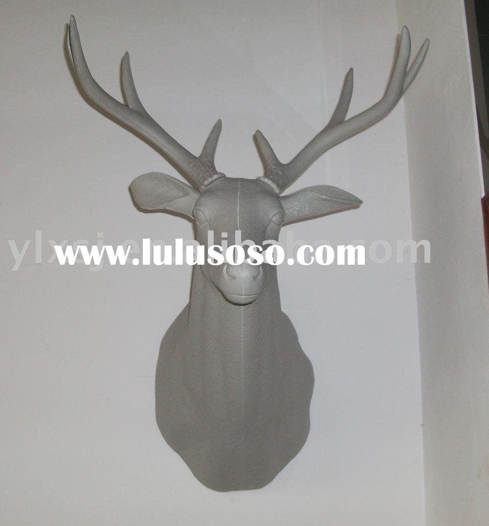 deer head mounts as wall decoration