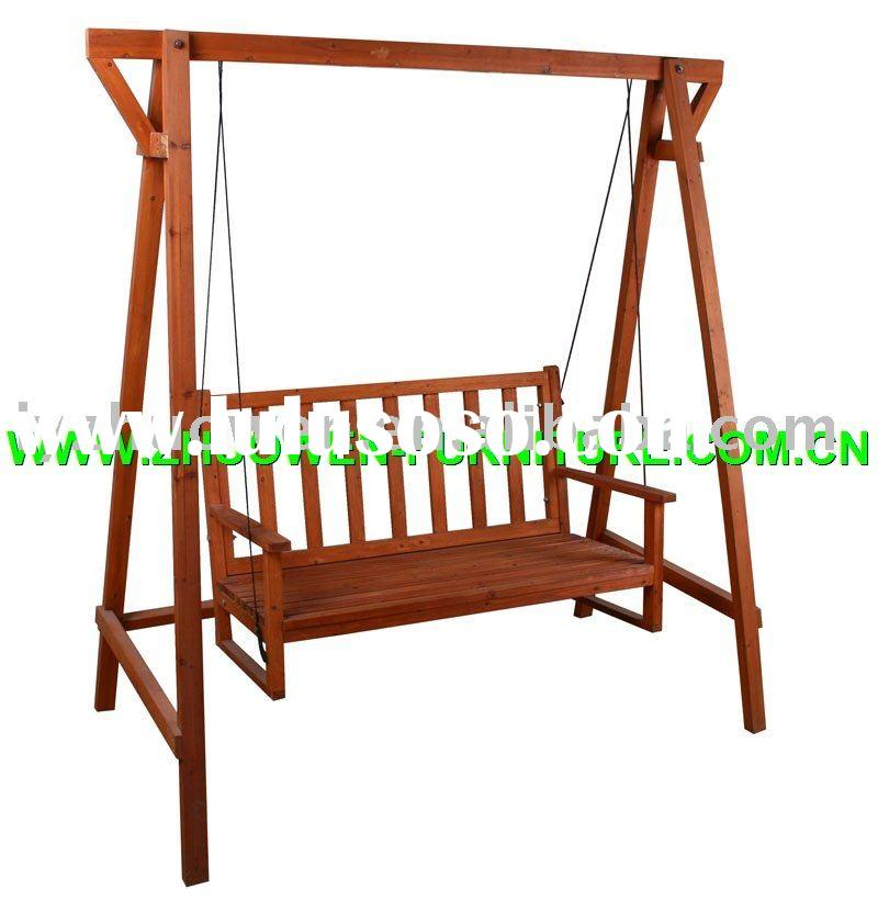 Wooden Seats Outdoor Outdoor Garden Wooden Swing