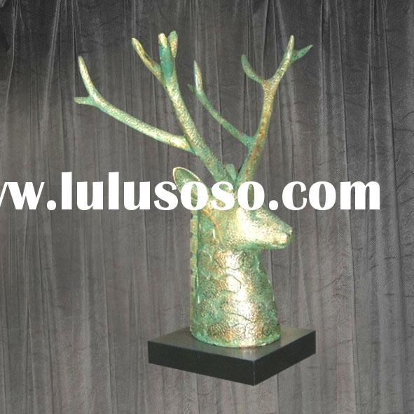 polyresin deer head sculpture for home decoration