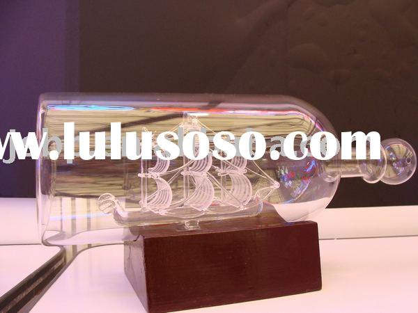 3d laser crystal craft, sailing boat