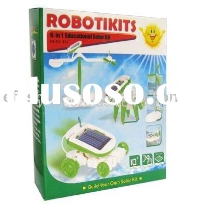 6 in 1 educational solar robot kit DIY kids toy