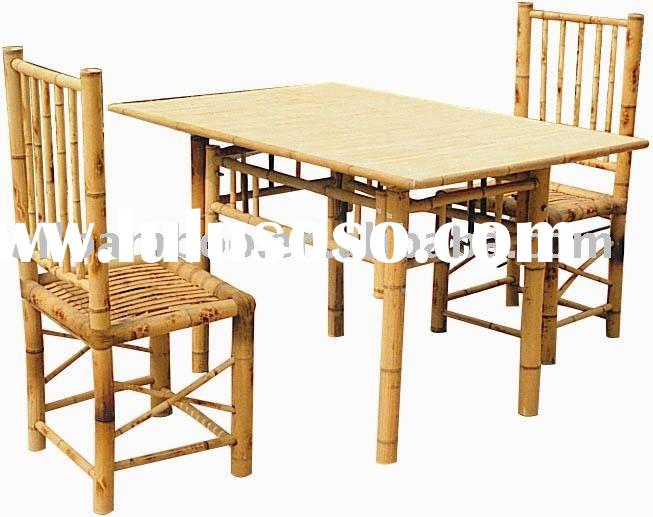 Bamboo Table and Chair