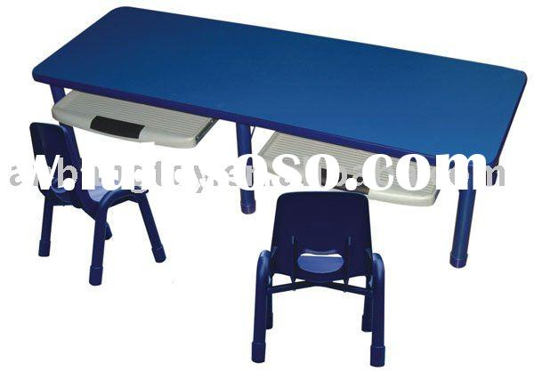 Children's Tables And Chairs ( Double Computer Table )