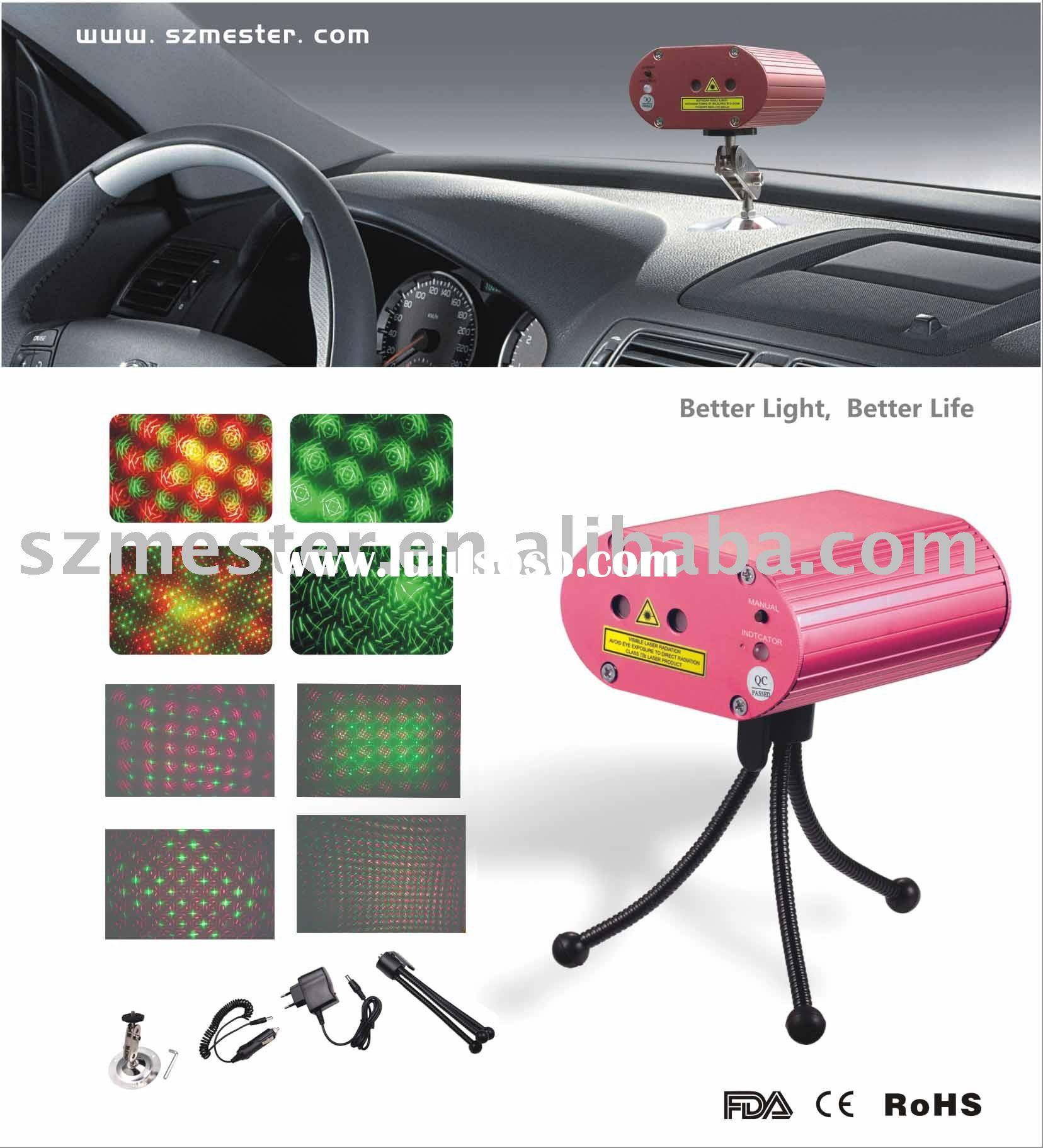 Laser show system , Mini laser light , Party light . 3.5W mini laser show .