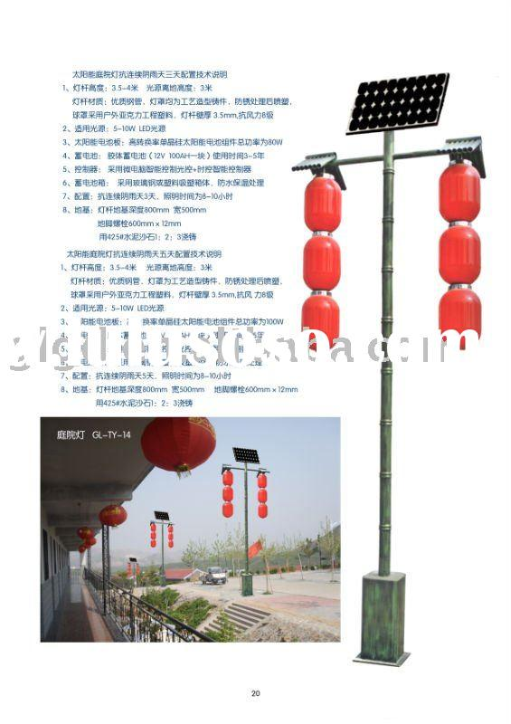 Led antique street lamp