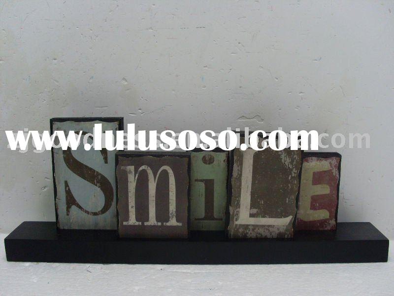 MDF Sign SMILE/Wooden sign with base/Wood word sign/Sign decoration