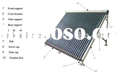 Solar Heating Tubes  schema All- glass solar tube collectors series