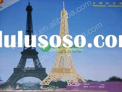Wholesale Price 3D Woodcraft Puzzle Model Eiffel Tower Educational Puzzle Kit