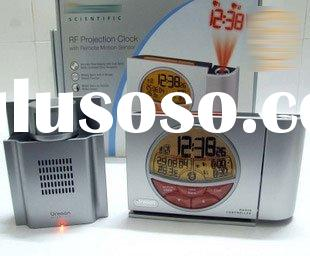 Wholesale-alarm clock laser projector Wireless Infrared Sensor Alarm with lcd screen temperature