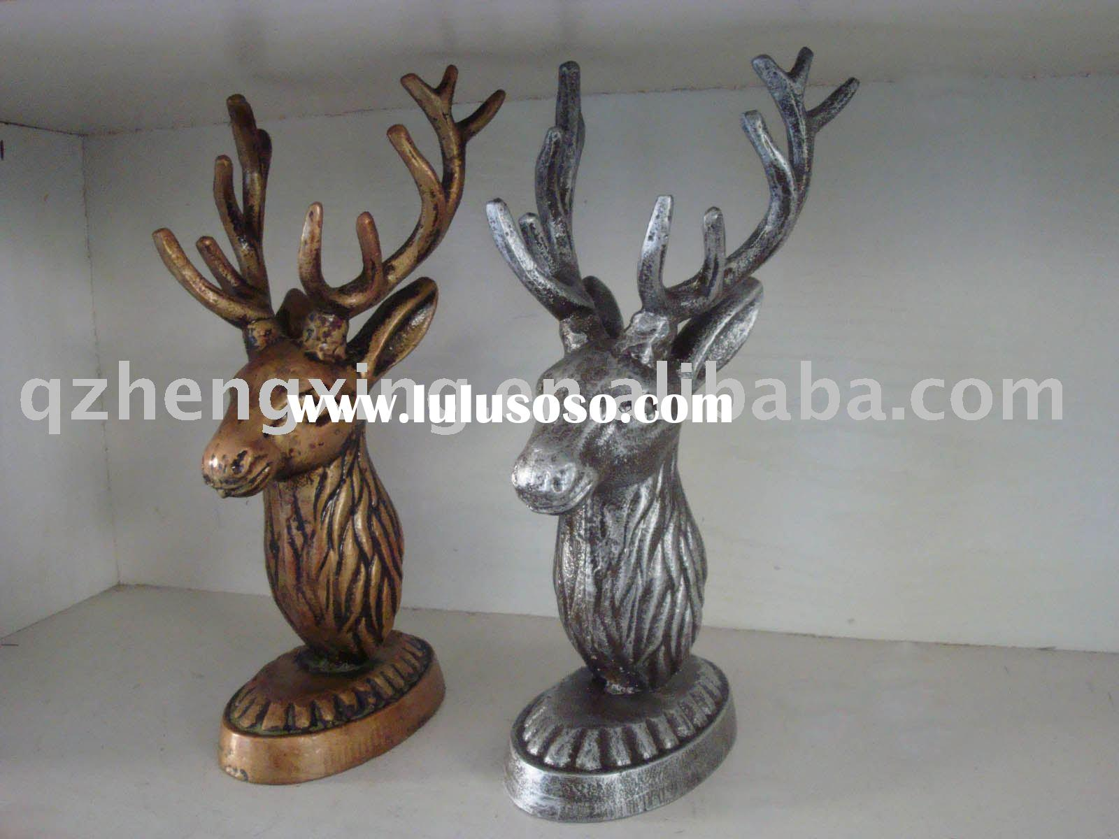decoration stand deer head with base