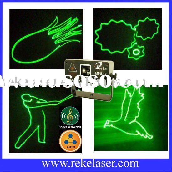 small green animation laser light show with sound and auto mode