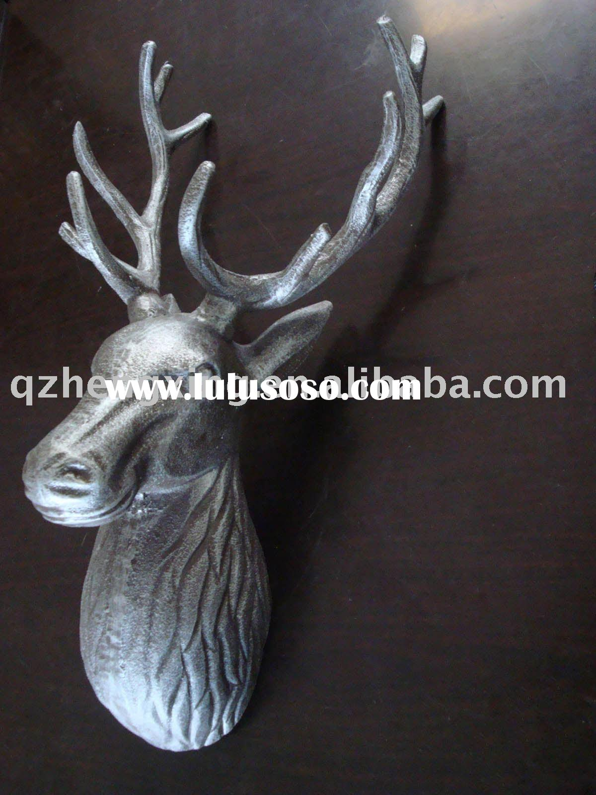 wall decoration iron deer head