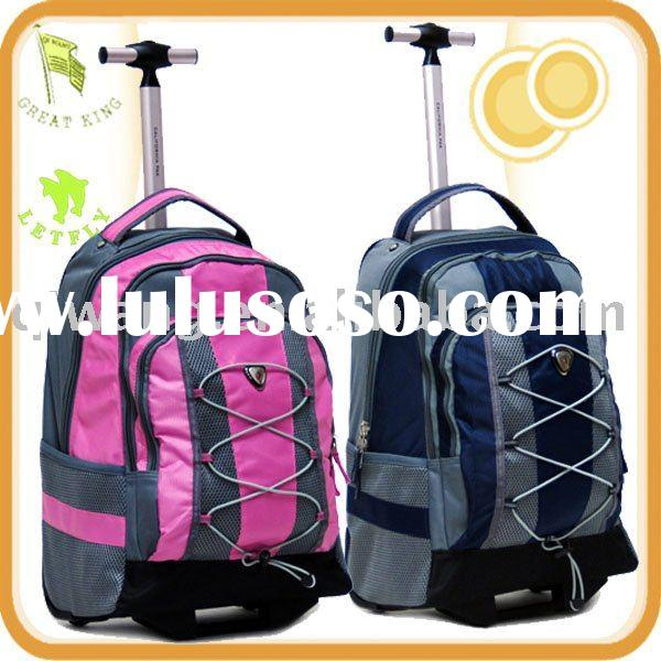 1680D polyester rolling laptop backpack