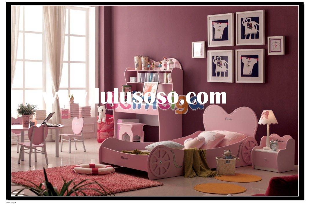 Hot Sale MDF Princess Love Girl Furniture in Pink Color  969#