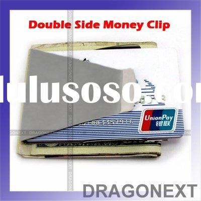 Slim Double Side Money Credit Card Holder Clip Wallet