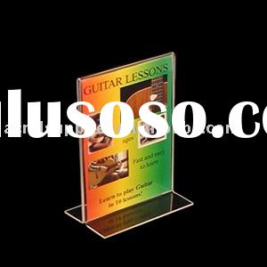 Vertical Double Sided, Stand Up Acrylic Sign Holder