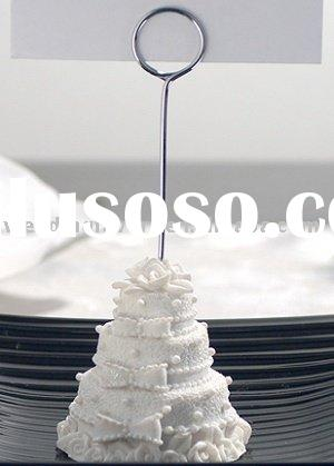 White Wedding Cake Place Card Holder Designed to look like a traditional