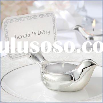 "party supply of ""Love Dove"" Tea Light/Place Card Holder"
