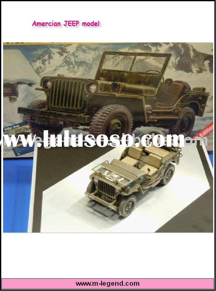 1/24 scarl static plastic car model American Jeep