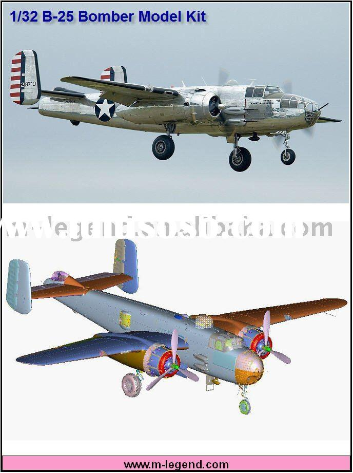 1/32 Mitchell bomber B-25 airplane model