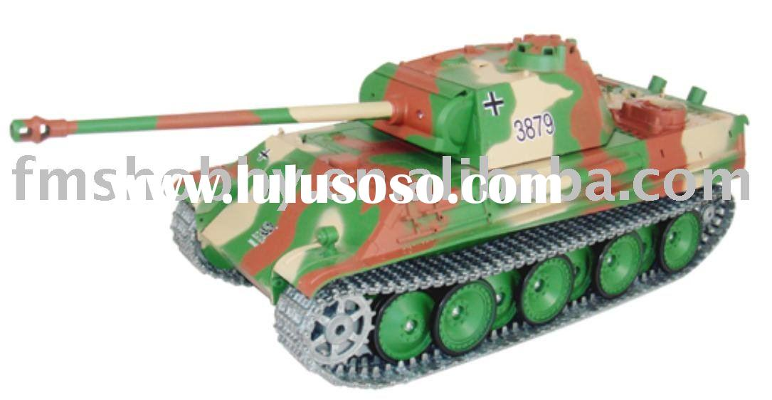 IR Control RC Toy German Tiger I Smoking German Panther G Tank Model