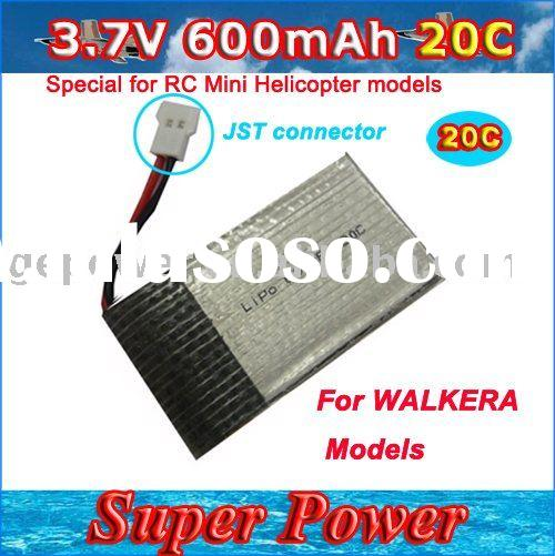 RC helicopter battery 3.7V 600MAH 20C RC Lipo Li-Polymer  Battery for Mini Helicopter,Walkera