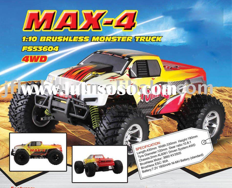 rc electric Car  1:10 brushless monster truck 4wd ( RTR )
