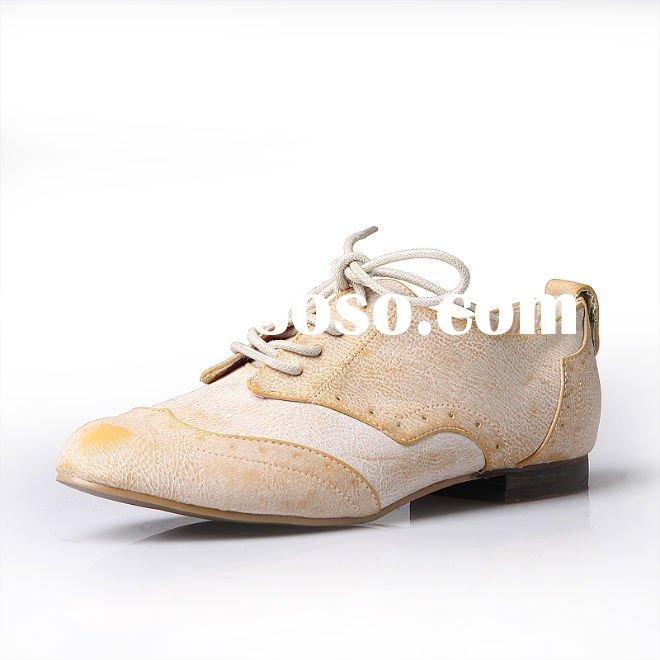 Dune tan-leather 'linfords' simple lace up brogue - Flat shoes - Shoes