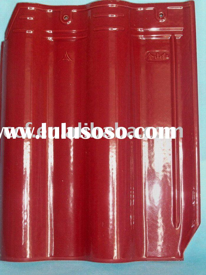 Glazed monier concrete roof tile- Red
