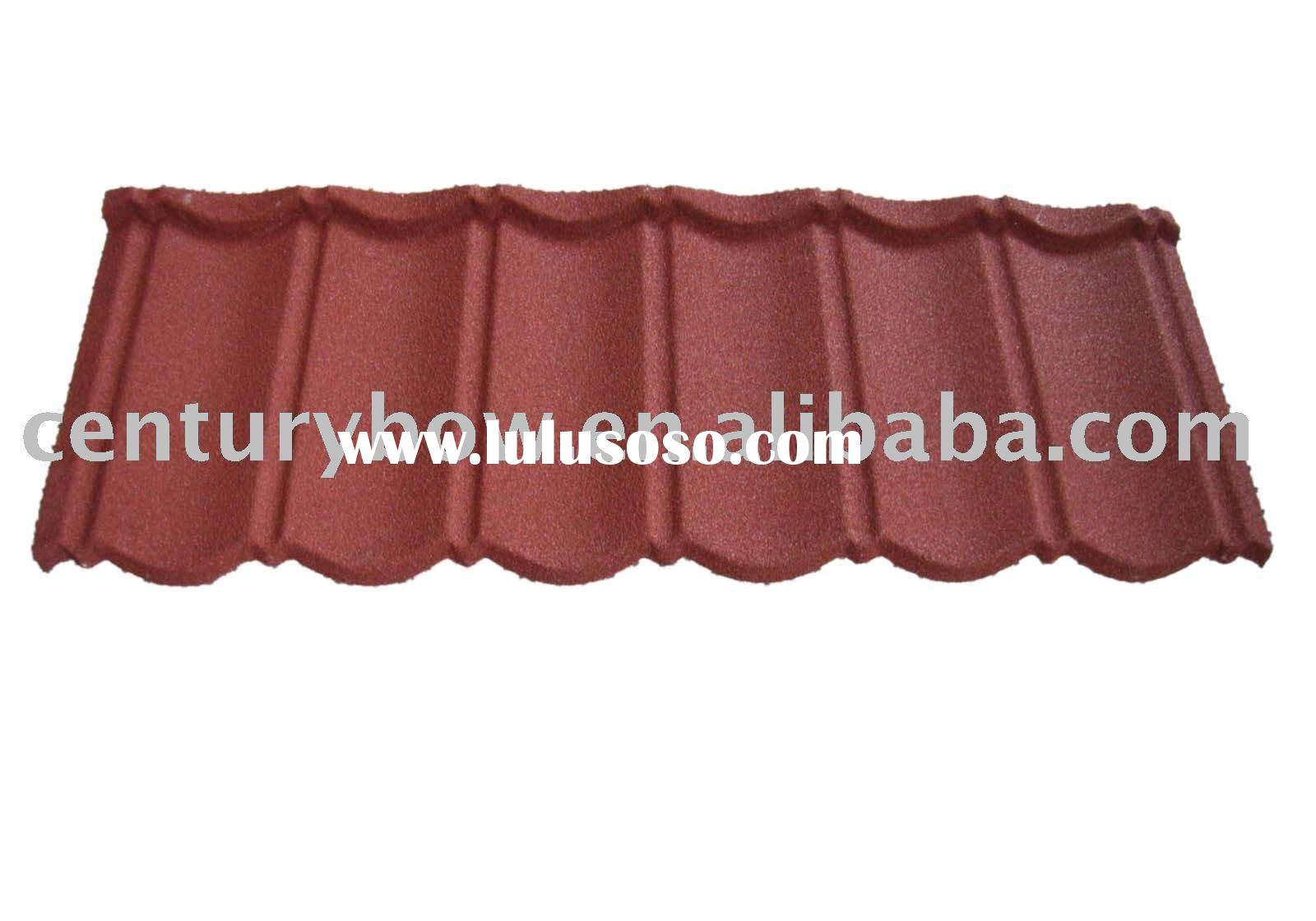 Stone Chip Coated Zinc Aluminum Steel Roof Tile, Colored Roof Tile, Roofing Tile