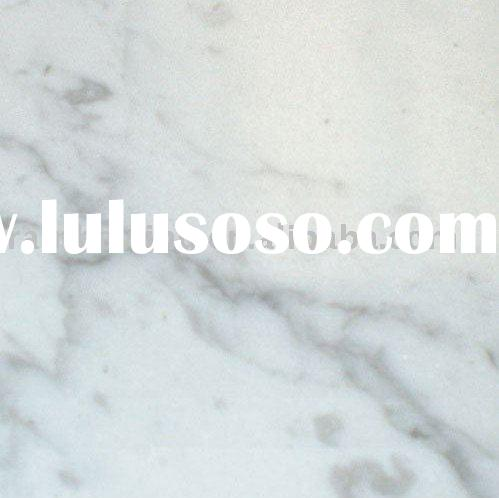 White carrera marble tiles
