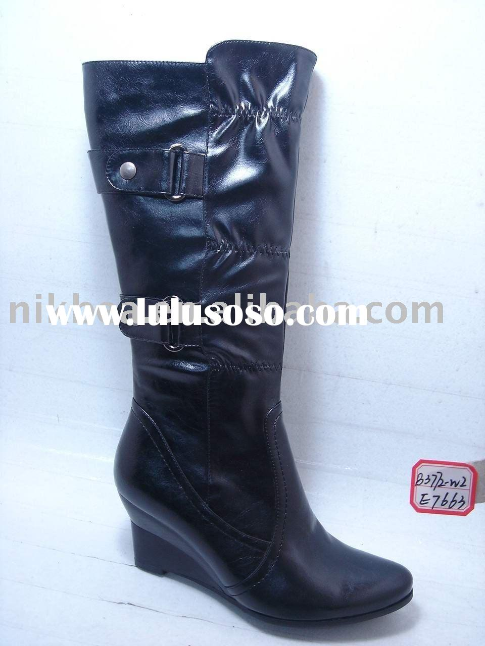 2011 fashion hot latest design confort midium heel ladies shoes and boots for wholesale