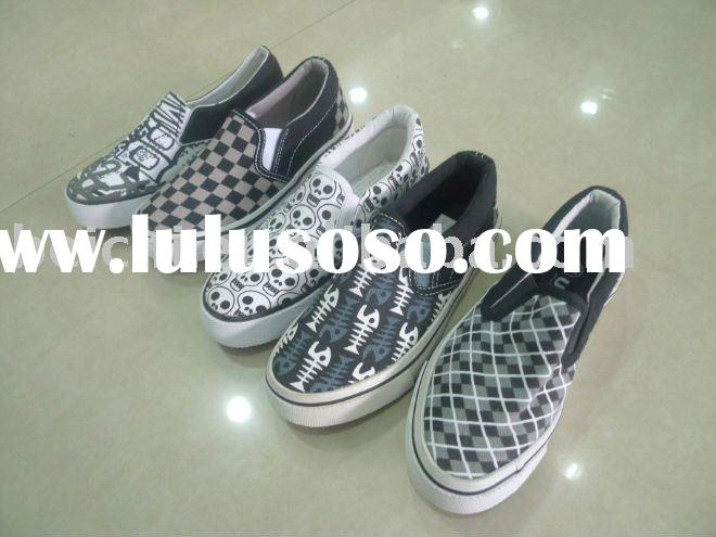 2011 new design boy's rubber canvas shoes
