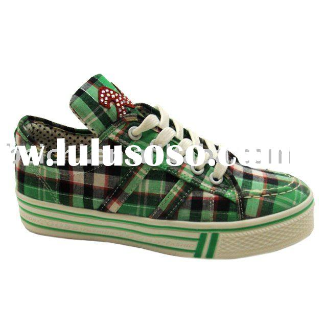 2011 new design women's rubber canvas shoes