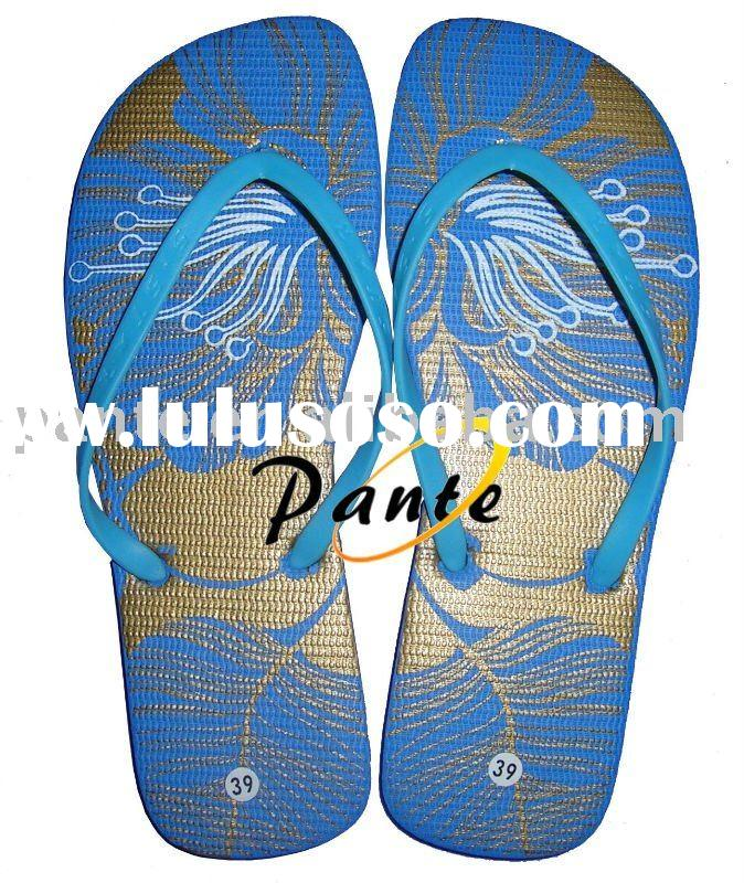 beaded flip flop shoes
