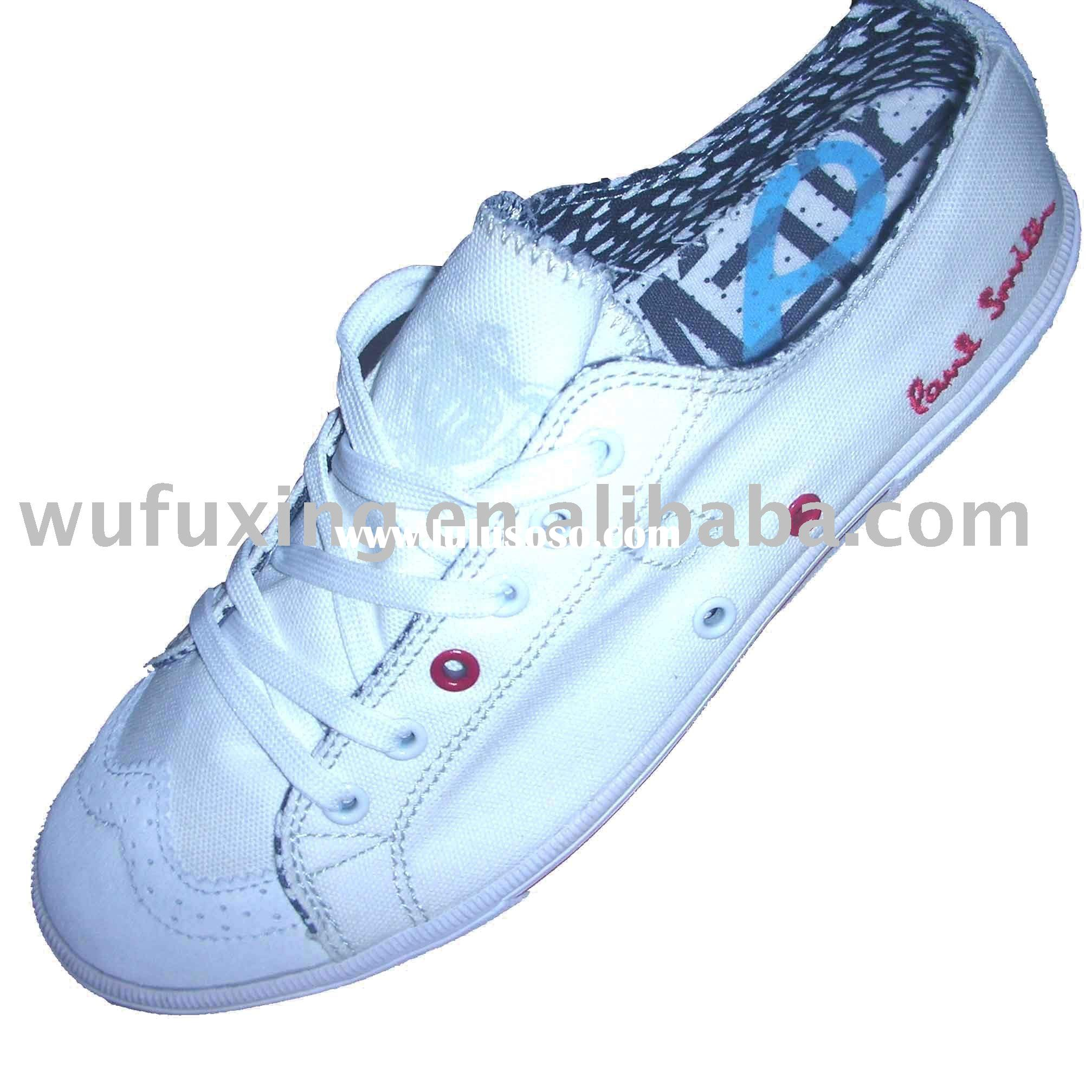 classical white canvas shoes