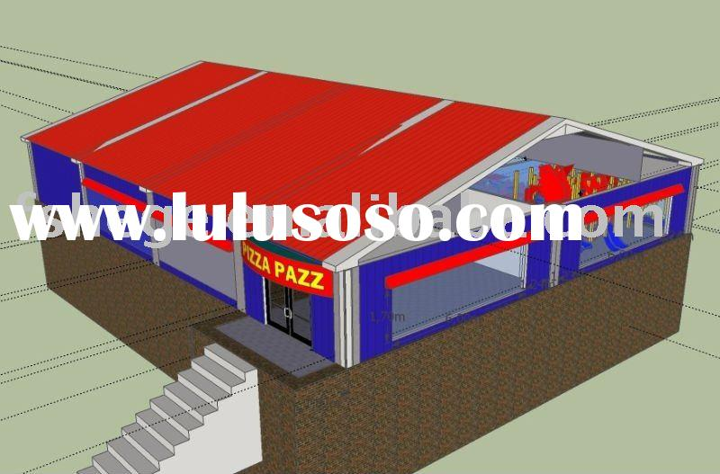 light steel structure building,restaurant,prefabricated building