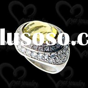2011 Hot design  fashion olivine 925 sterling silver puzzle ring