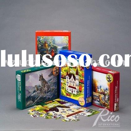 2011 Recycled Paper Puzzles With Box-Education toys