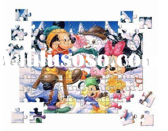 2011 newest style Children Puzzle Game to print the picture you want